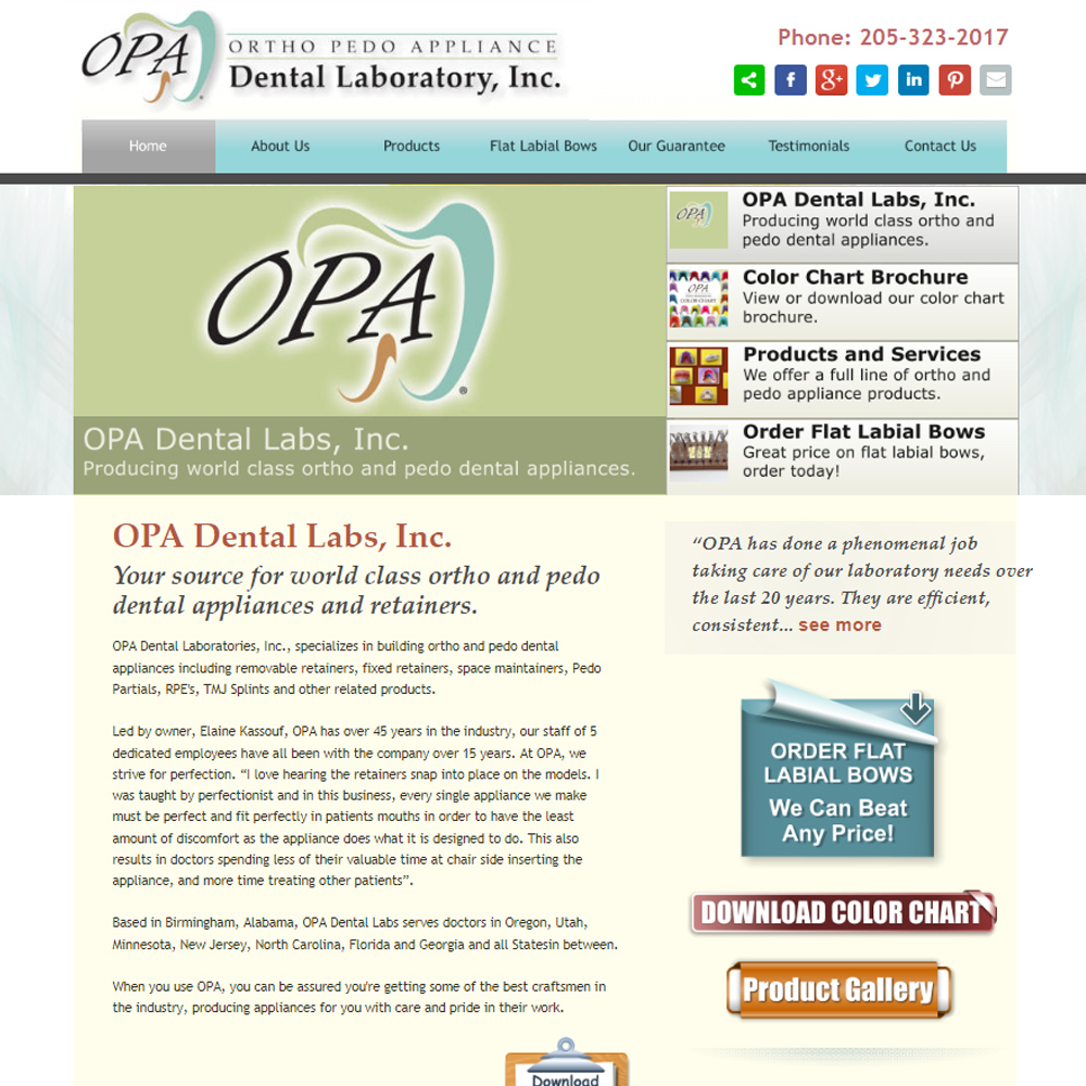 OPA Dental Laboratory, Inc